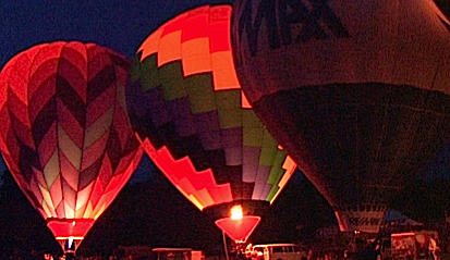 Evening Balloon Glow at the Quechee Balloon Festival